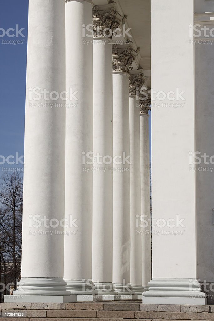 Columns of Helsinki Cathedral stock photo
