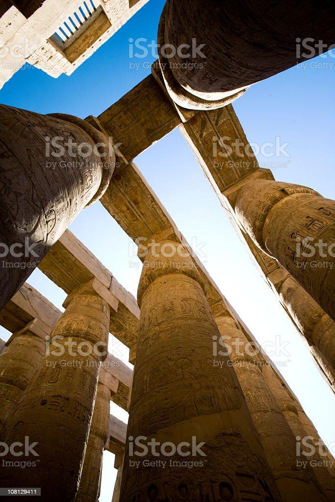 Columns of Karnak Temple, Luxor, Egypt royalty-free stock photo