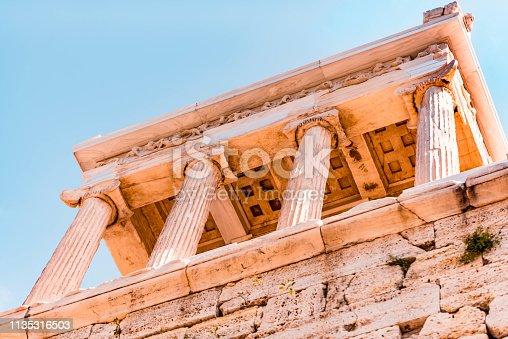 Columns of Parthenon, Acropolis Hill, Athens, Greece