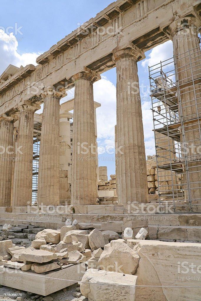 columns of Parthenon,Acropolis, Athens, royalty-free stock photo