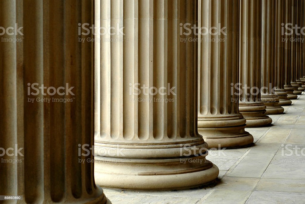Columns of St. George's Hall stock photo