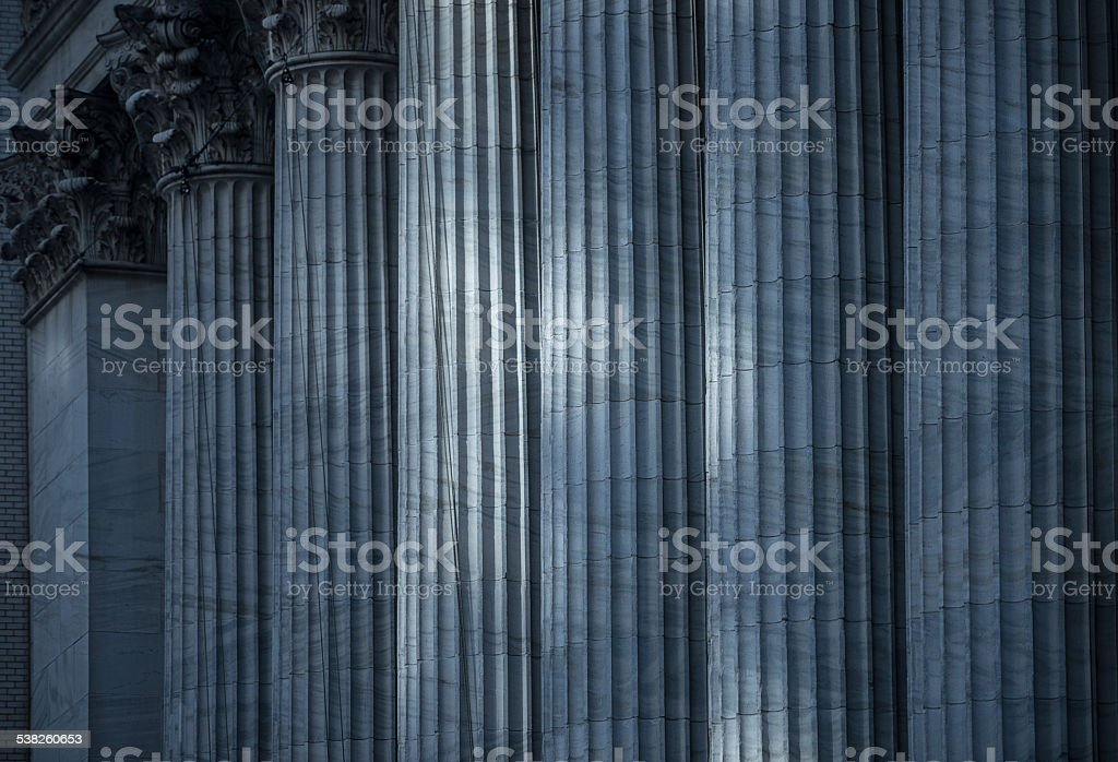 Columns of Stock Exchange, New York stock photo