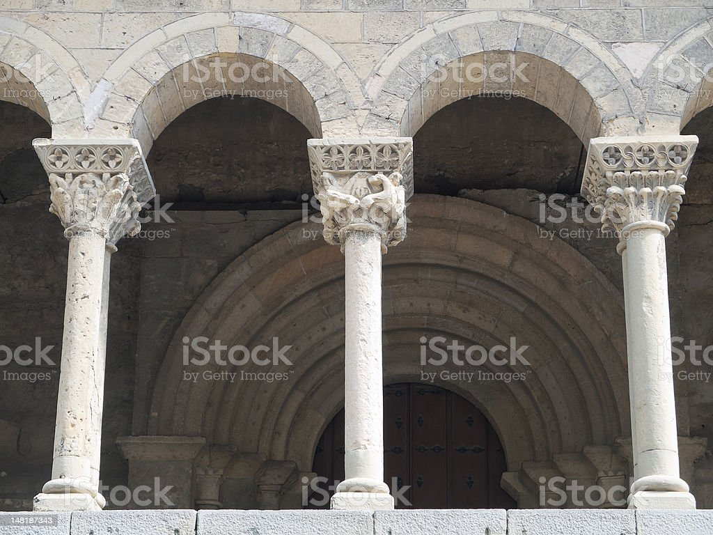 columns of the Church stock photo