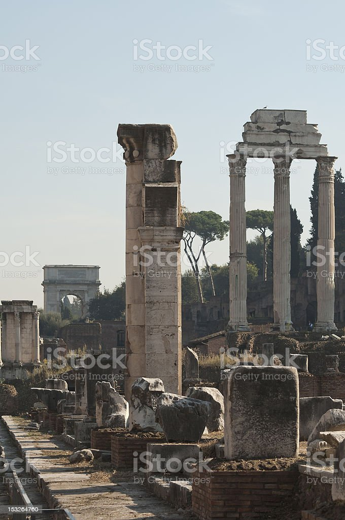 Columns of the Forum stock photo