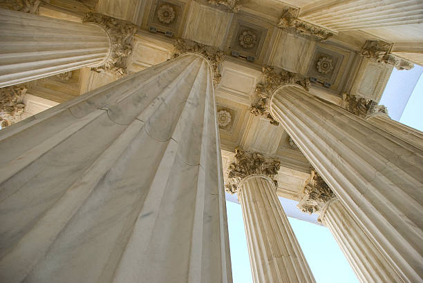 Columns of the Supreme Court Building stock photo