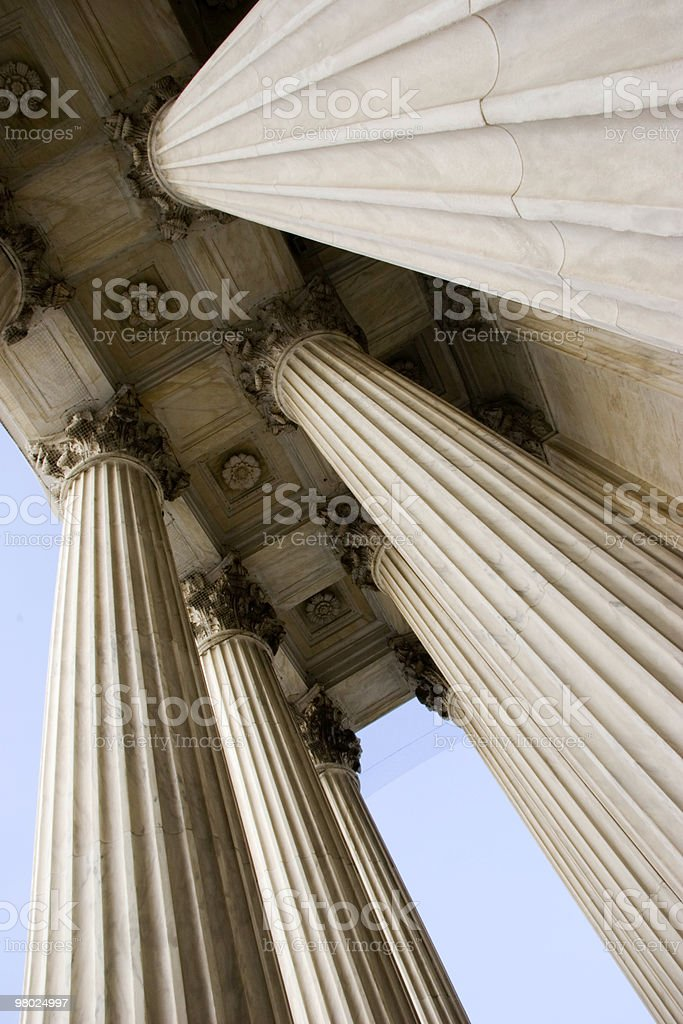 Columns of the U.S. Supreme Court royalty-free stock photo