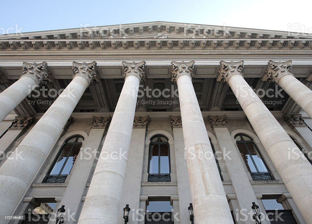 Columns on a building. stock photo