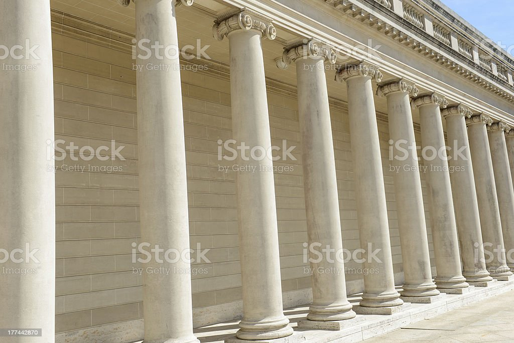 Columns or Pillars in a Row royalty-free stock photo