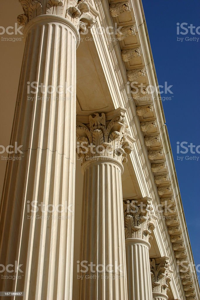 Columns - Ornate and Inspirational royalty-free stock photo