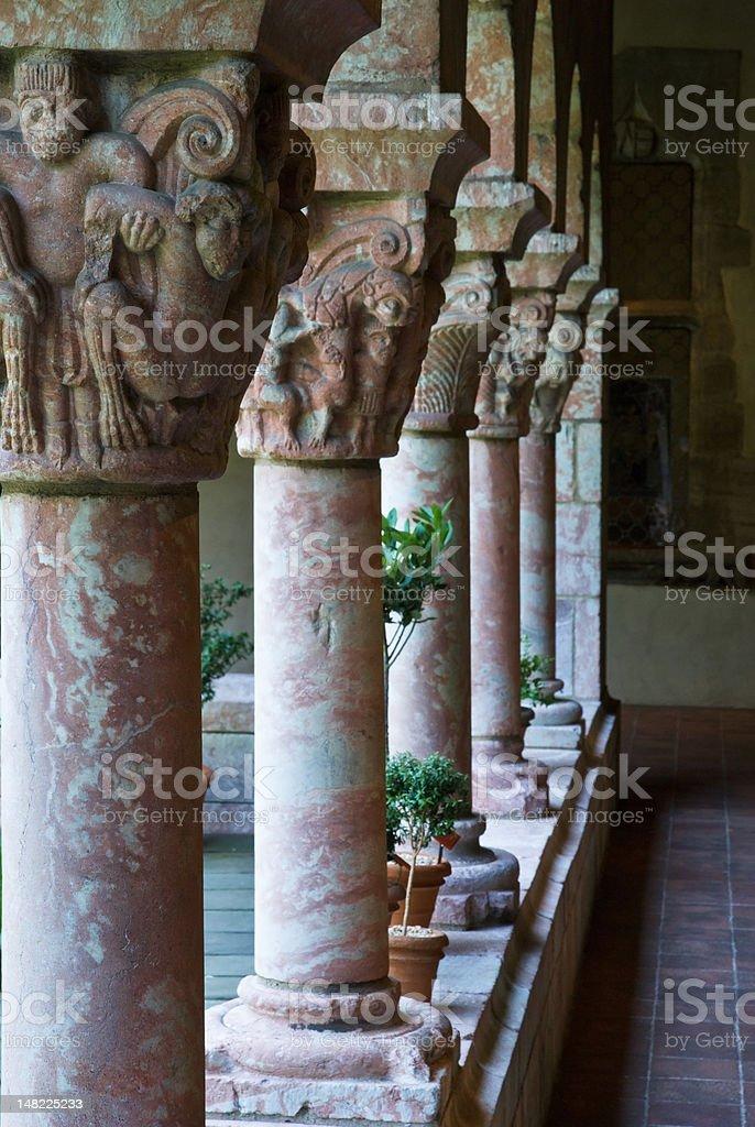 columns perspective stock photo