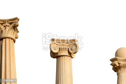 Column. SEE ALSO MORE PHOTOS ISOLATED ON WHITE and