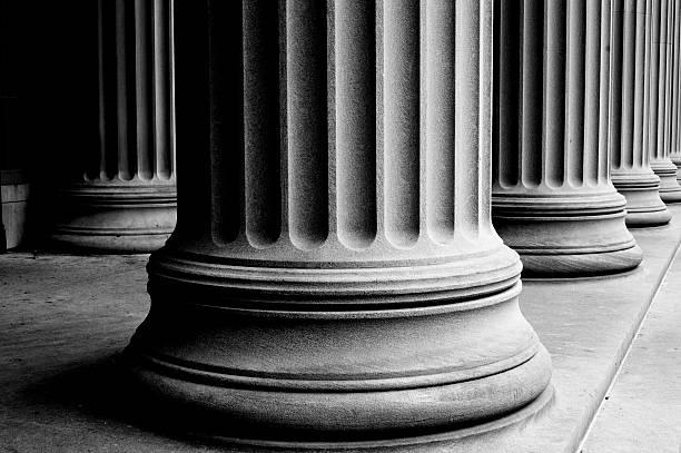 des colonnes - colonne architecturale photos et images de collection