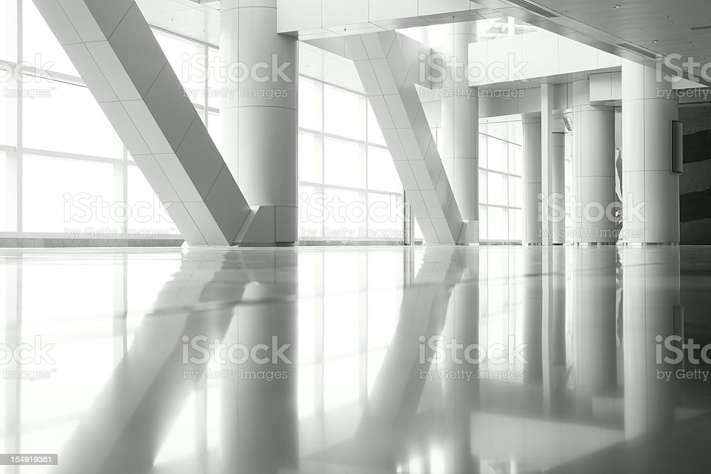 Columns Reflection stock photo