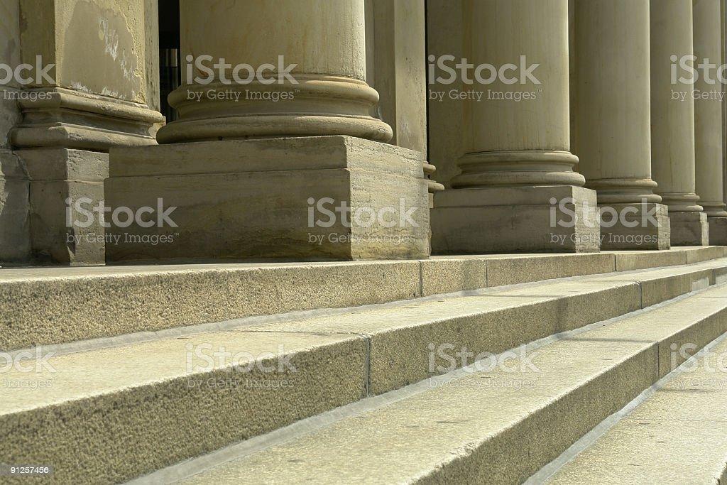 Columns & Steps stock photo