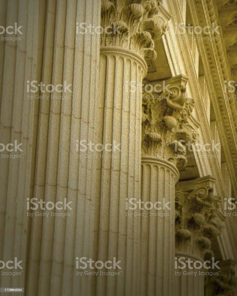 Columns -  Textured royalty-free stock photo