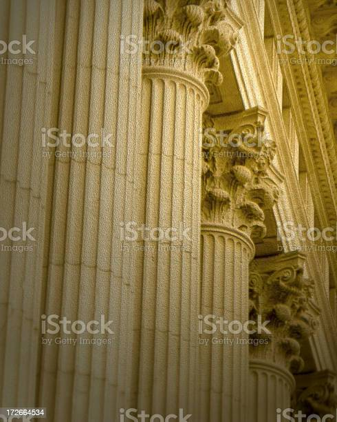 Columns Textured Stock Photo - Download Image Now