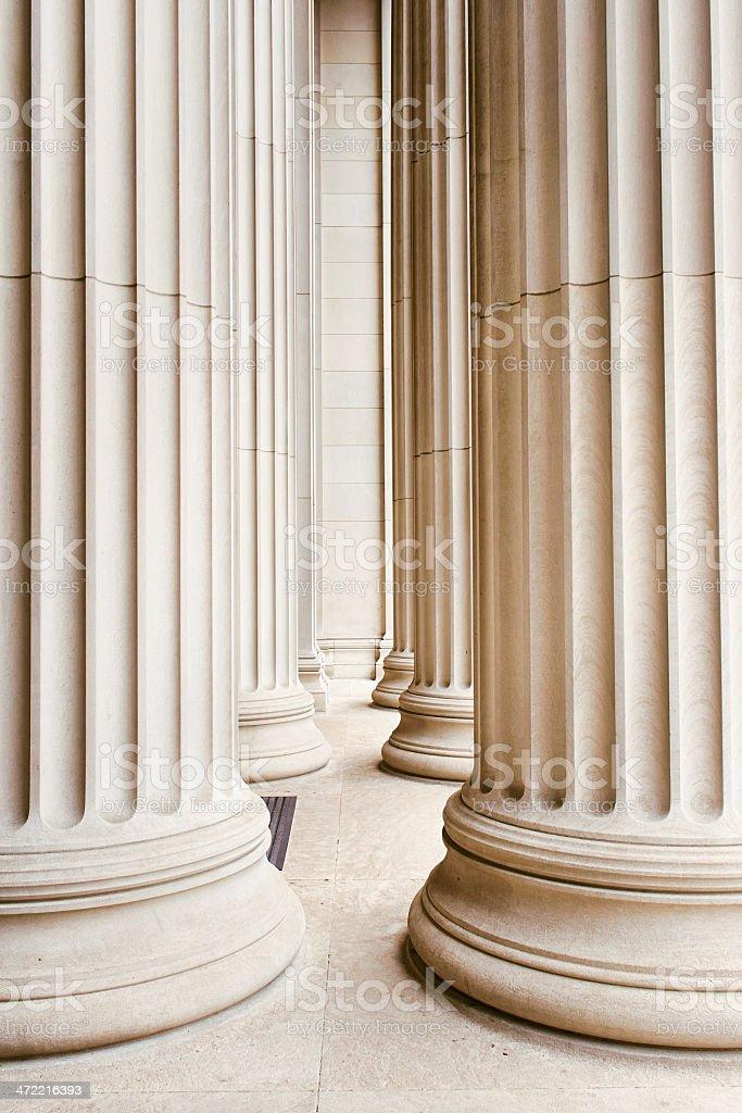 Columns USA royalty-free stock photo