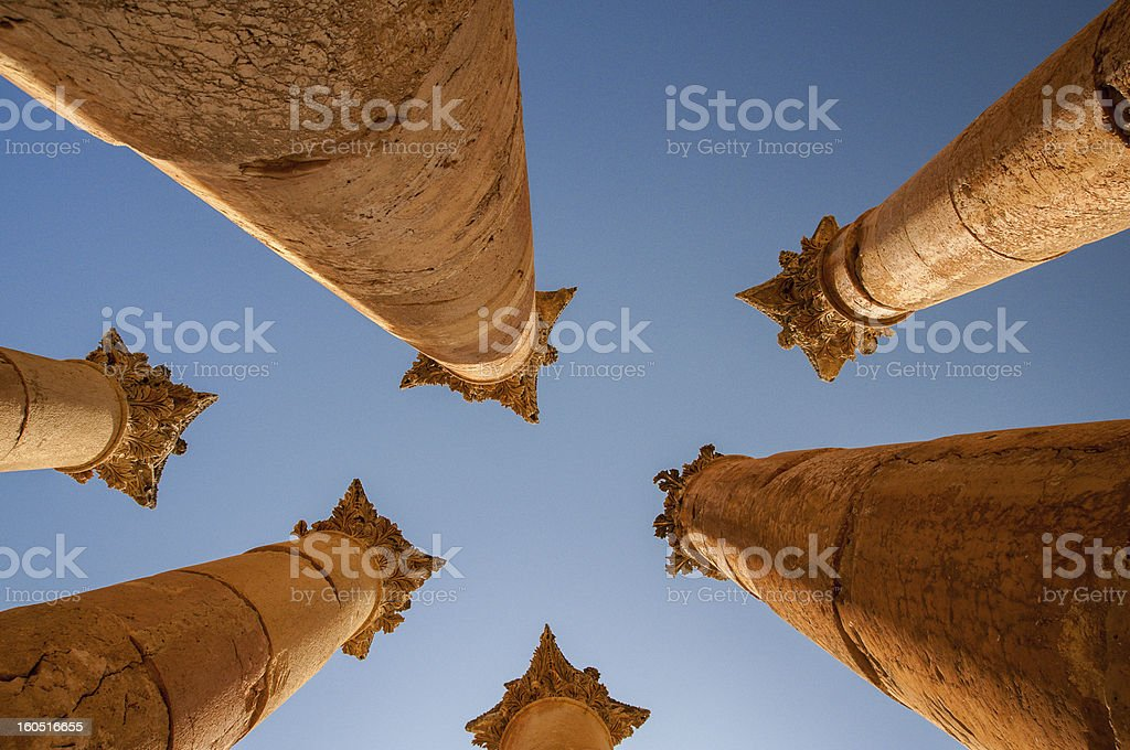 Columns, View from below royalty-free stock photo