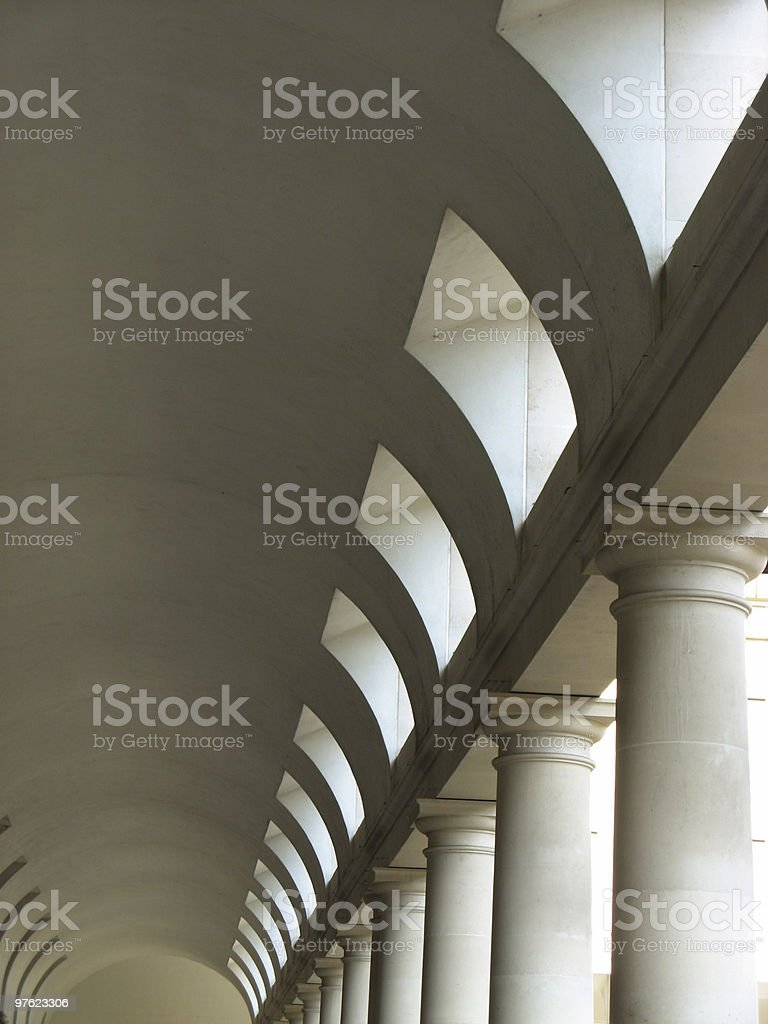 Columns with arch royalty-free stock photo