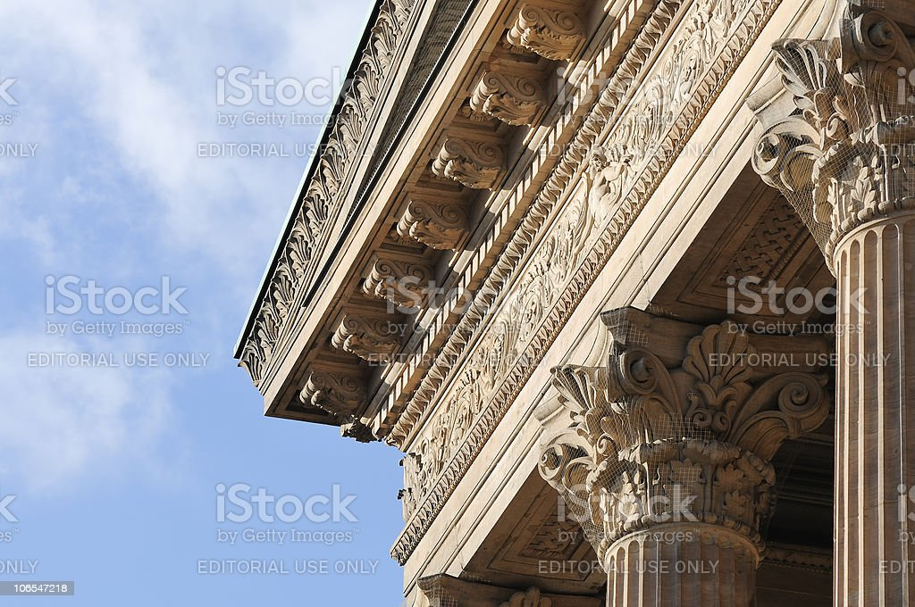 Columns with Blue Sky royalty-free stock photo