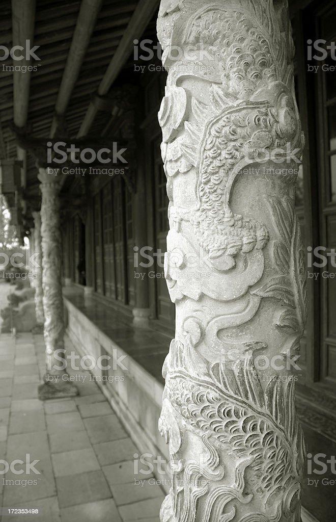 Columnas con cifras vietnamita foto de stock libre de derechos