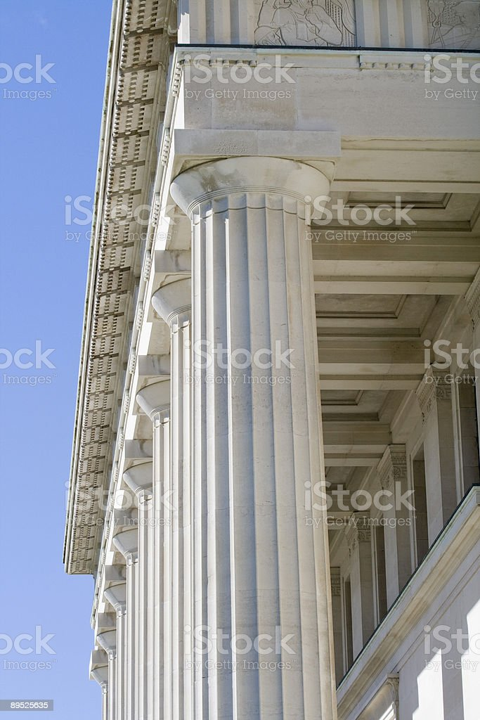 Columns with Portico royalty-free stock photo