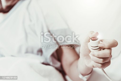 910488902 istock photo Coma patient on hopital bed take care by doctor nurse due to serious infection diagnosed cancer, coronavirus, thalassemia, aids. Need health technology treatment to recover and survive virus crisis 1216629153