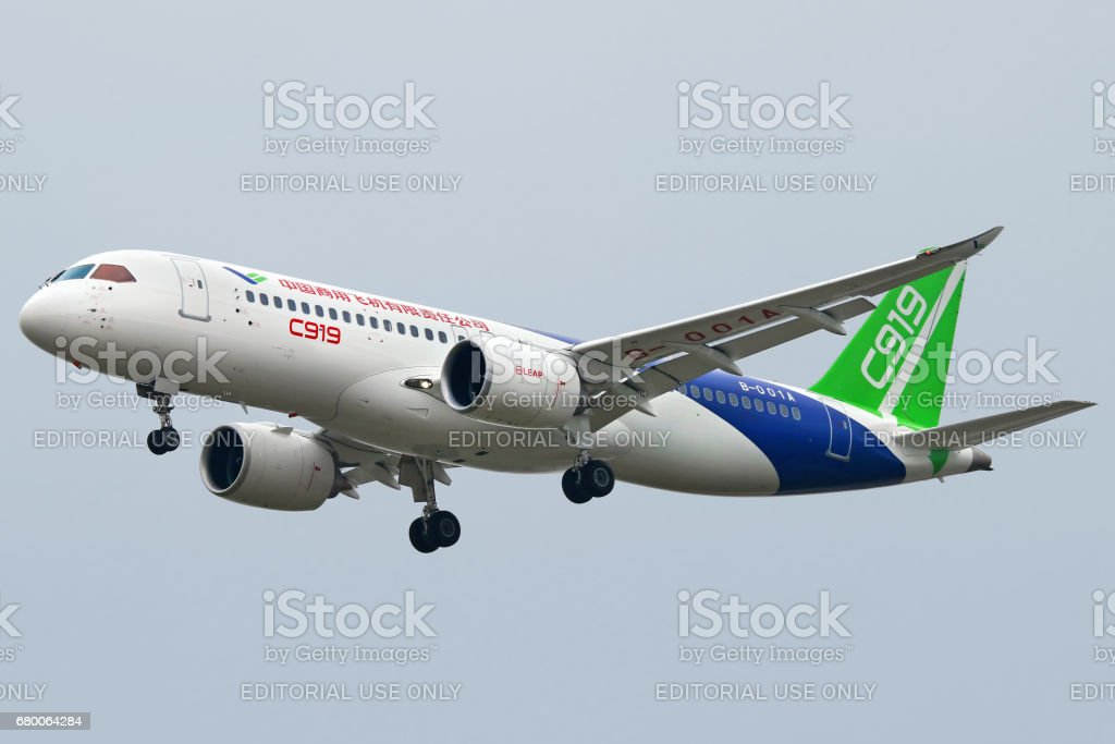 Comac C919 First flight stock photo