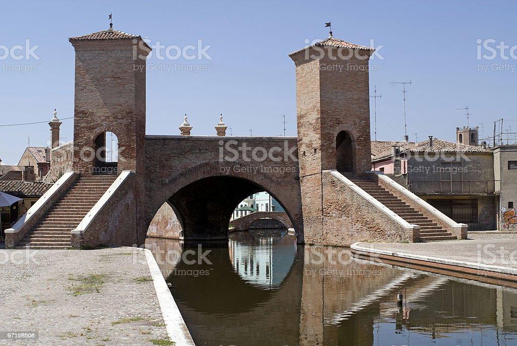 Comacchio (Ferrara, Italy) - Famous bridge stock photo