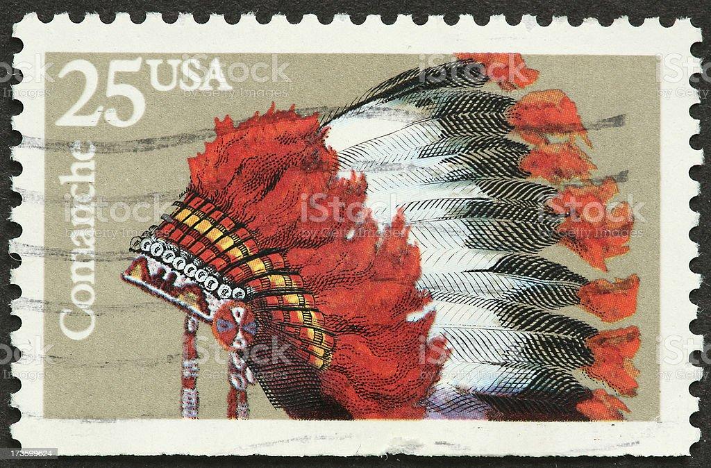 Comanche headdress royalty-free stock photo