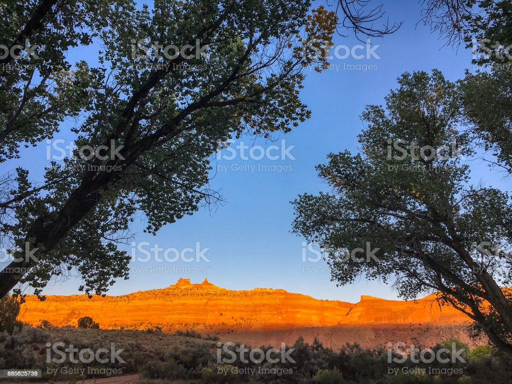 Comb Ridge afternoon stock photo