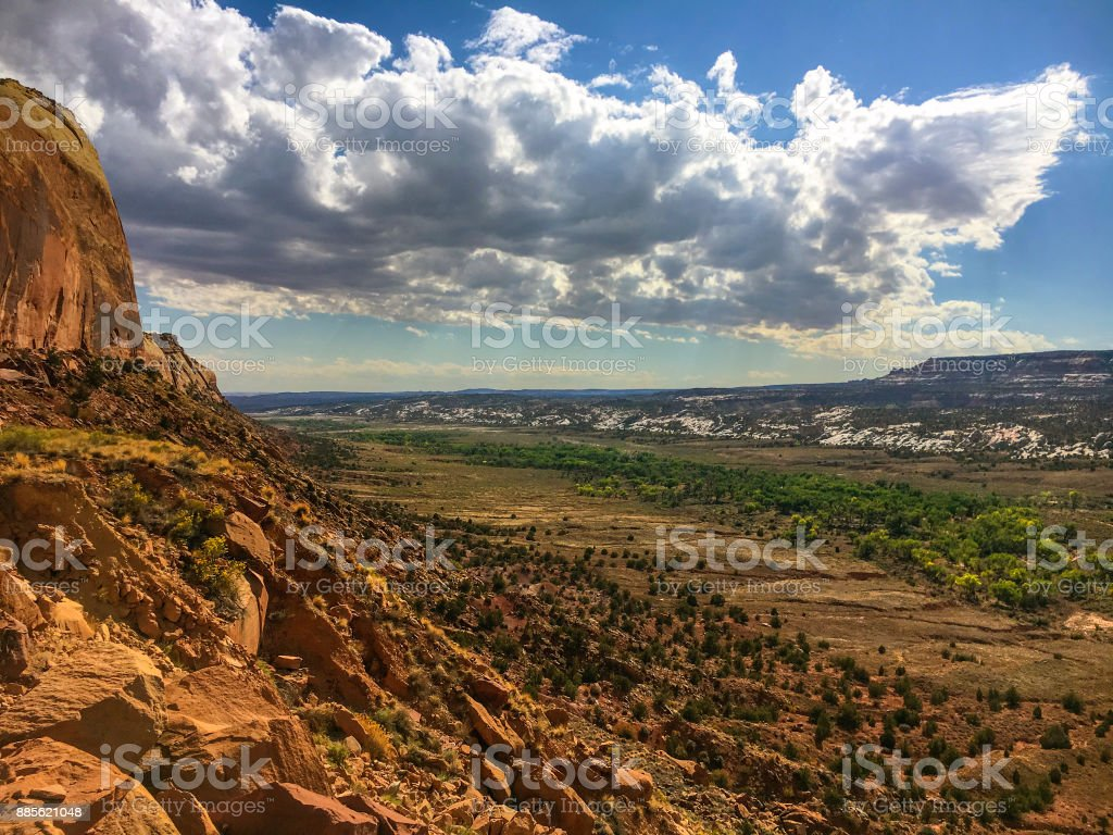 Comb Ridge and Cedar Mesa stock photo