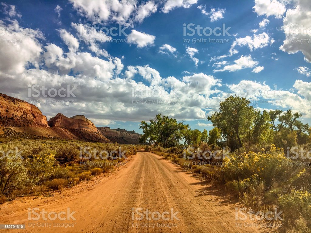 Comb Wash Road stock photo