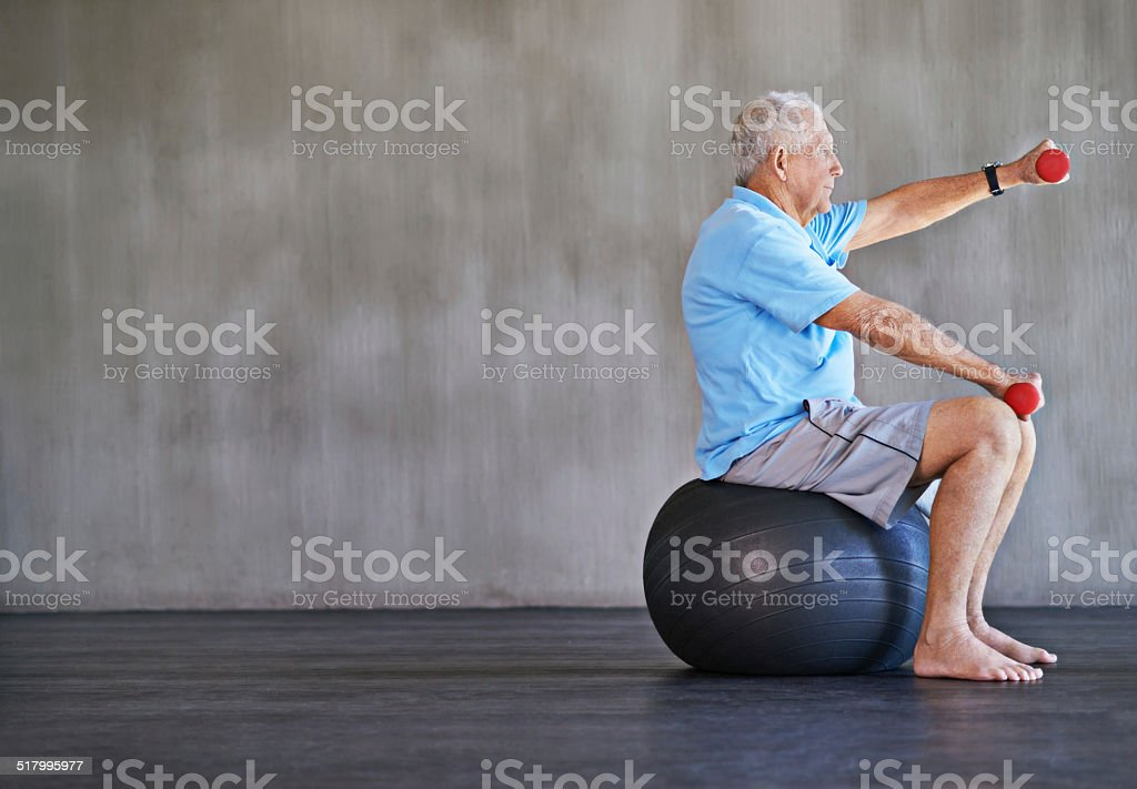 Combat aging one kilo at a time stock photo