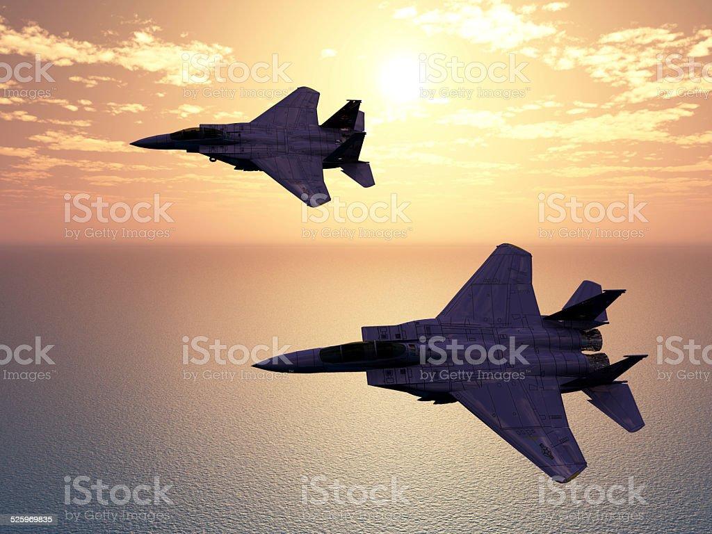 Combat Aircrafts stock photo