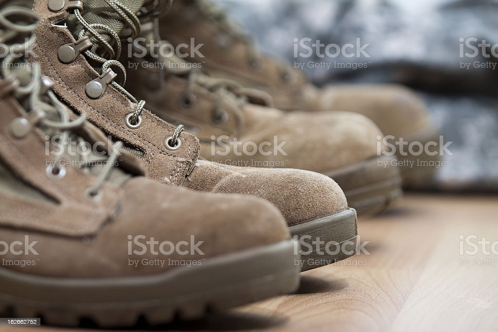 Combat Boots With ACU royalty-free stock photo