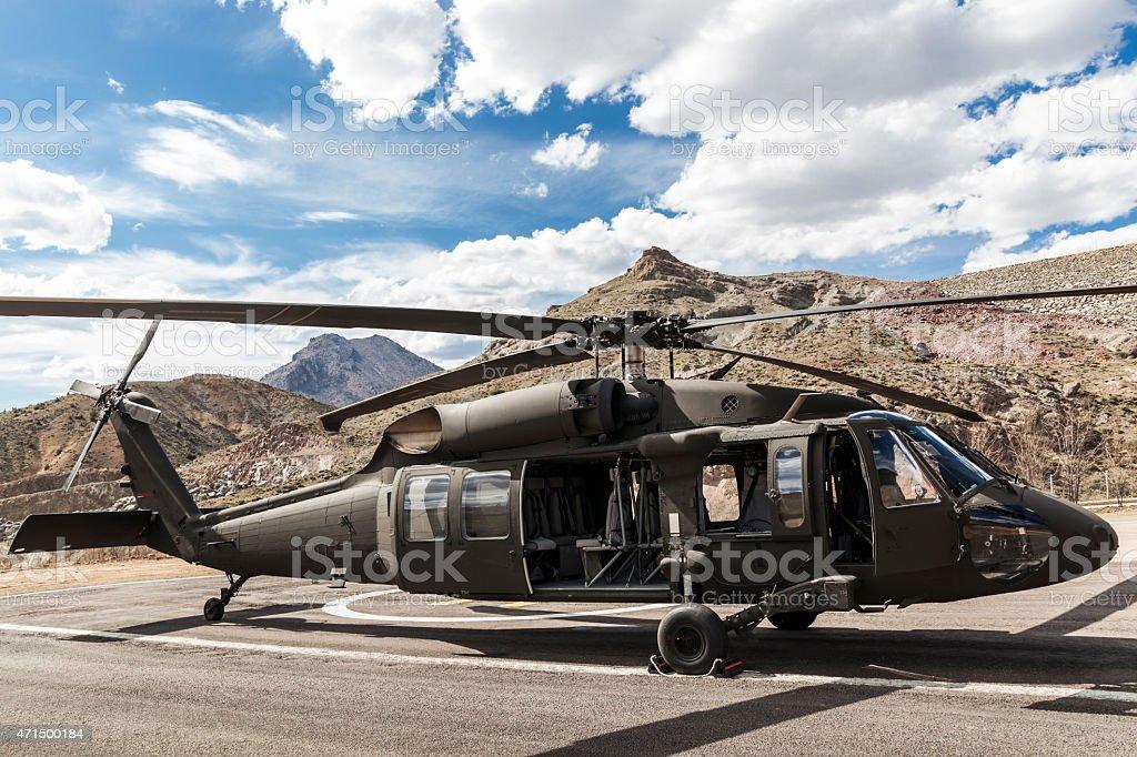 Combat Chopper stock photo