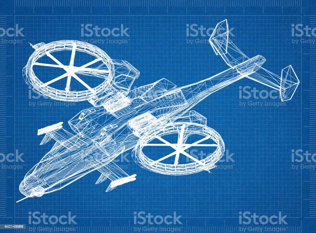 Kampf gegen Hubschrauber 3D Bauplan – Foto