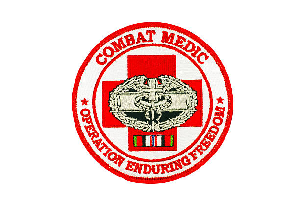 Combat Medic Military Patch stock photo