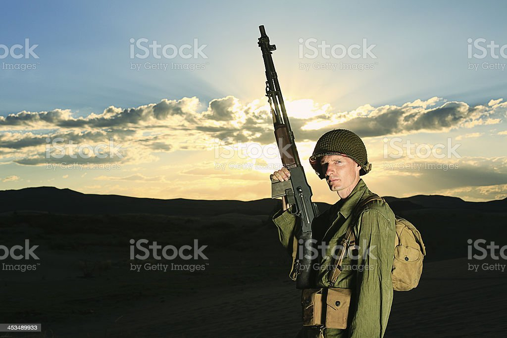 WW2 Combat Soldier royalty-free stock photo
