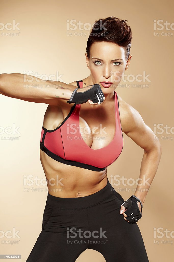 Combat Woman royalty-free stock photo