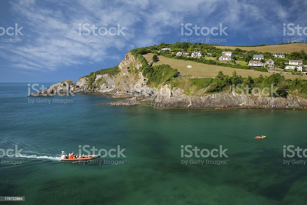 Combe Martin village, Devon, UK stock photo