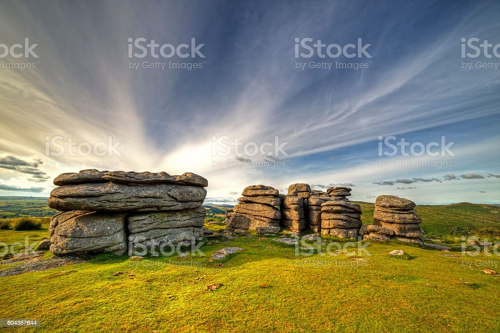 combestone tor stock photo