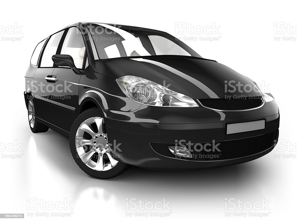 Combi car in studio - isolated with clipping path stock photo