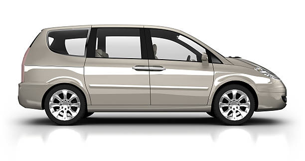 Combi car in studio - isolated with clipping path Brandless, unique generic 3d model of combi car in studio - isolated on white with clipping path generic description stock pictures, royalty-free photos & images
