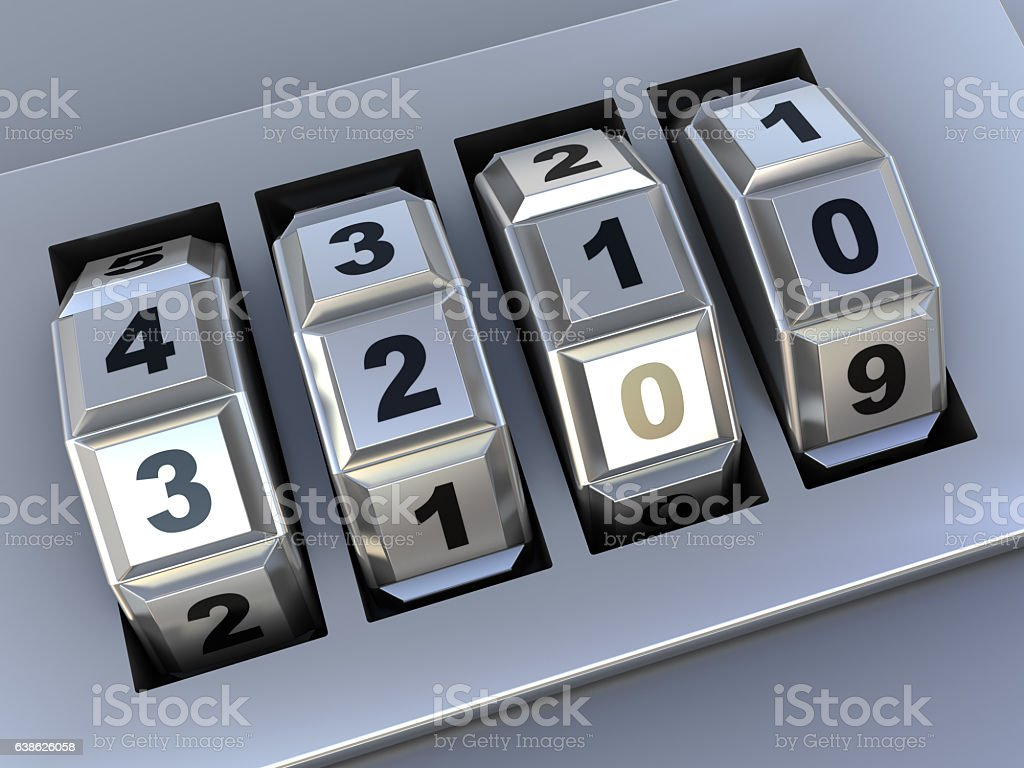 combination dialing stock photo