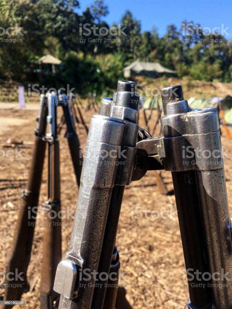 Combination Gun rifle stock photo