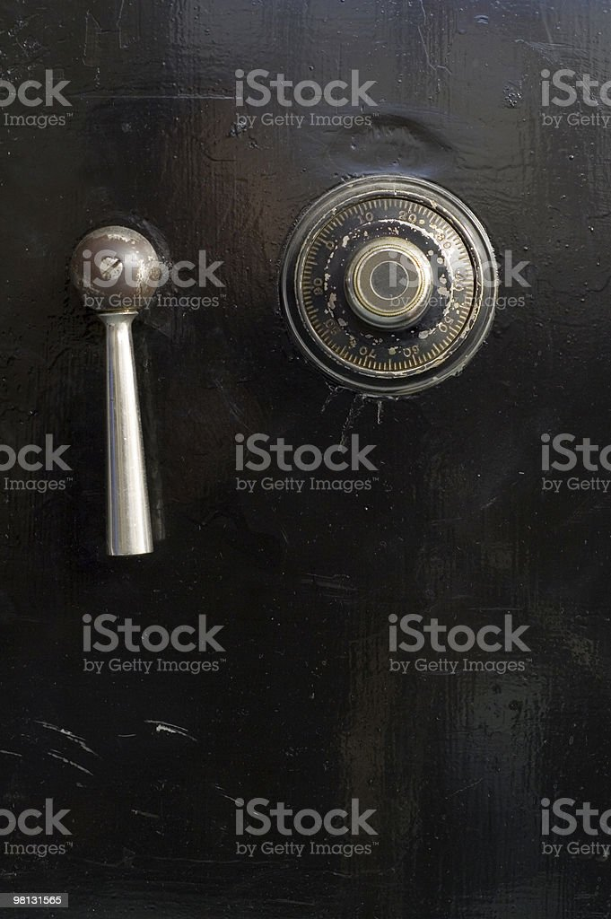combination lock for a safe royalty-free stock photo