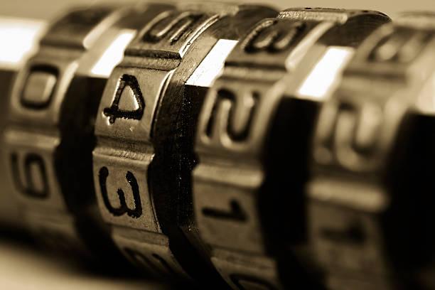Cerradura de combinación - foto de stock