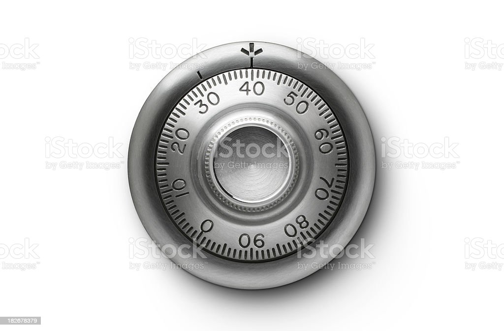 Combination lock. stock photo